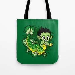 Pond Dragon Tote Bag