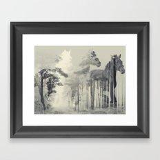 Like a Horse in the woods Framed Art Print
