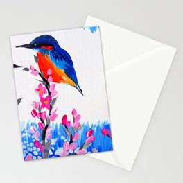 Kingfishers and Cherry Blossom Stationery Cards