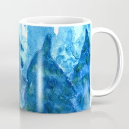 Winter Forest landscape watercolor Coffee Mug