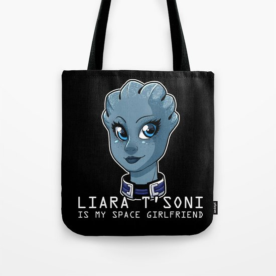 Liara Is My Space Girlfriend Tote Bag