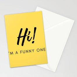 Hi! I'm a Funny One Stationery Cards
