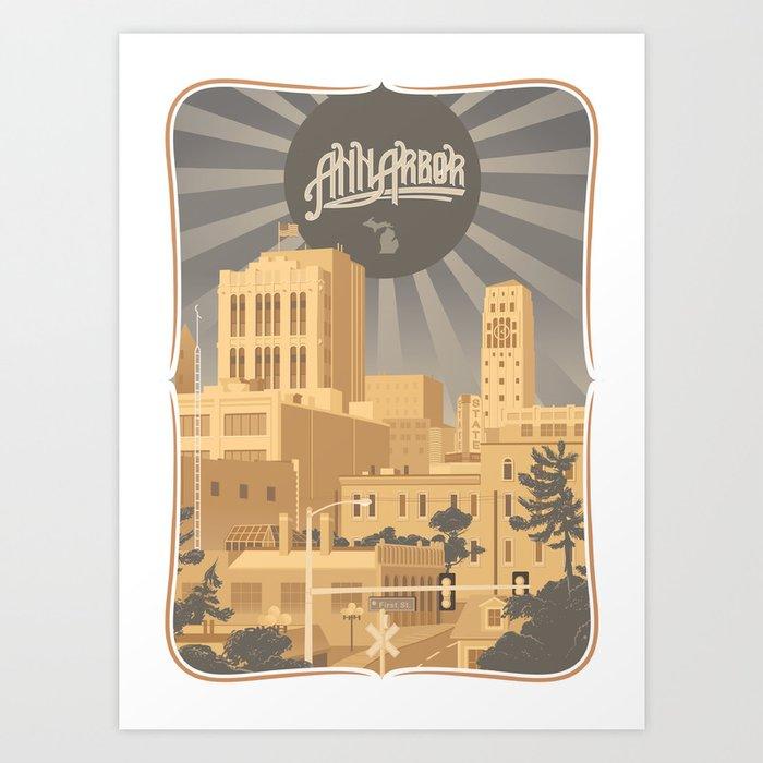 Ann Arbor Art Print
