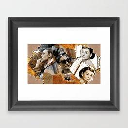 Audrey Hepburn - Ripped Paper Style - Framed Art Print