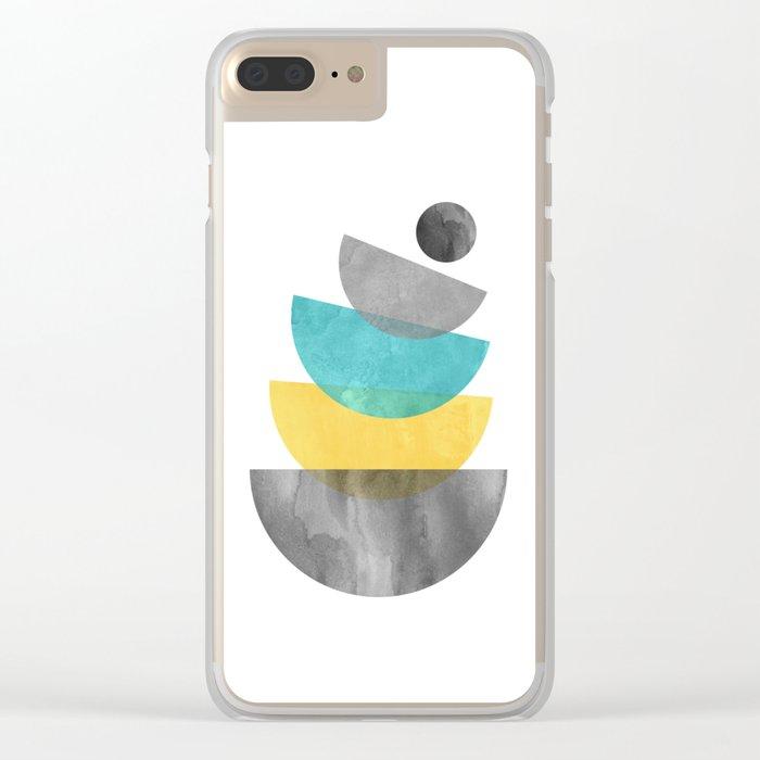 Mid Century Scandinavian Clear iPhone Case