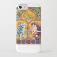 golden girls iPhone & iPod Cases featuring Golden Temple of the Good Girls by Susan Carlson