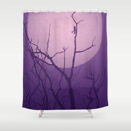 Grasshopper Moon Shower Curtain