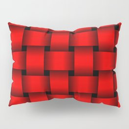 Large Red Weave Pillow Sham