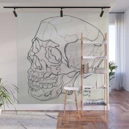 Skull drawing Wall Mural