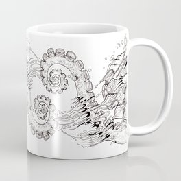 Cephalopodic Swipe (linework) Coffee Mug