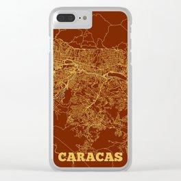 Caracas, Venezuela street map Clear iPhone Case