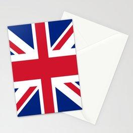 red white and blue trendy london fashion UK flag union jack Stationery Cards