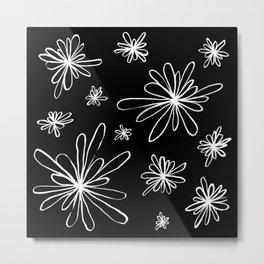 Energy Flowers Reverse Metal Print