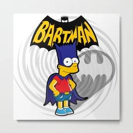 Bartman: the simpsons superheroes Metal Print