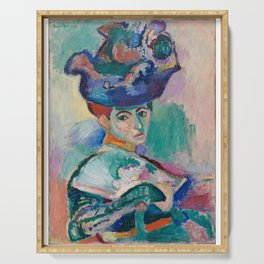 La femme au chapeau (Woman with a Hat) - Henri Matisse Serving Tray