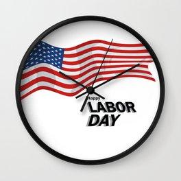 Labor Day Wall Clock