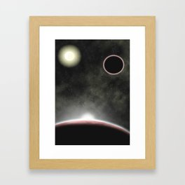 Crystallize Space Framed Art Print
