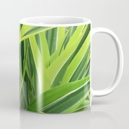 Exotic Lush Green Leaves Coffee Mug