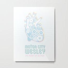 Heart of Detroit Metal Print