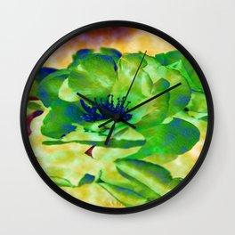 Yellow Rose Abstract Wall Clock