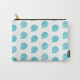 Kawaii Watercolour Ghosts (Ocean) Carry-All Pouch
