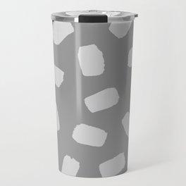 Brushstrokes in Gray Travel Mug