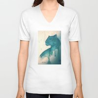 panther V-neck T-shirts featuring Panther by elisacalderoni92