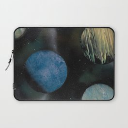 Loads of Planets - Spacescape - Spray Paint Art Laptop Sleeve