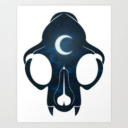 Night Skull Art Print