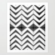 HYPNOTIC CHEVRONIA Art Print