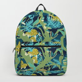 North American Forest Pattern (Greens) Backpack