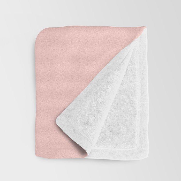 Bathroom Decor // get naked - white on light pink Throw Blanket