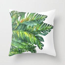 tropical green 2 Throw Pillow