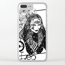 Leo - Zodiac Sign Clear iPhone Case
