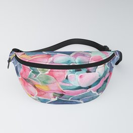 Watercolor succulents Fanny Pack