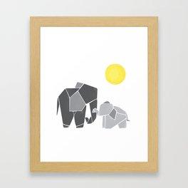 Mama and Baby Elephant Nursery Wall Art Framed Art Print