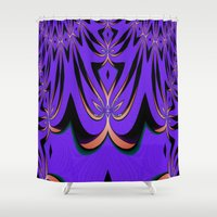 aliens Shower Curtains featuring Aliens... by Cherie DeBevoise