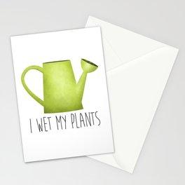 I Wet My Plants Stationery Cards