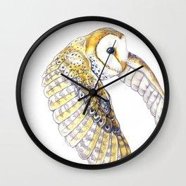 Milo - Australian Masked Barn Owl Wall Clock