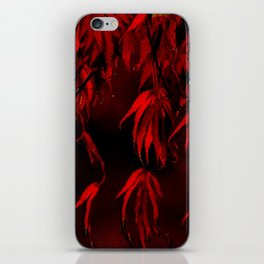 RED, RED AUTUMN iPhone Skin