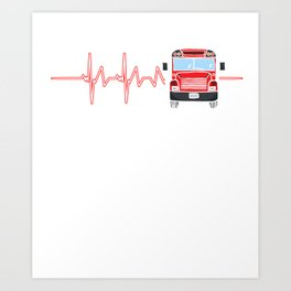 Bus Driver Heartbeat Driving Drivers Travel Car Lovers Gift Art Print