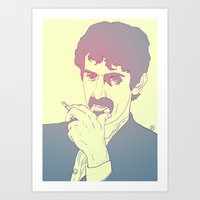 zappa Art Prints featuring Frank Zappa by Giuseppe Cristiano