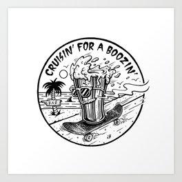 Cruisin' for a Boozin' Art Print