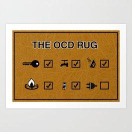 OCD  Art Print