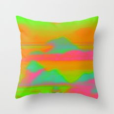 Sunset in the Realm Throw Pillow