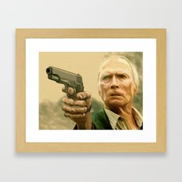 Clint Eastwood as Walt Kowalski Framed Art Print