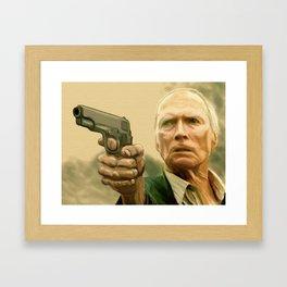 Clint Eastwood as Walt Kowalski Framed Art Print
