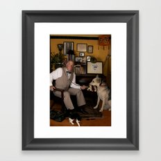 Dogs Are People, Too. Framed Art Print