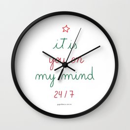 You on My Mind 24/7 Wall Clock
