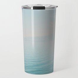 Landscape print Water minimalist photography Nature aqua photo Sea decor Travel Mug